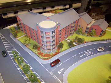 Architectural model of Churchfields Place for David Wilson Homes