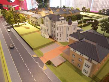 Architectural model of Thornbury Park for Linden Homes