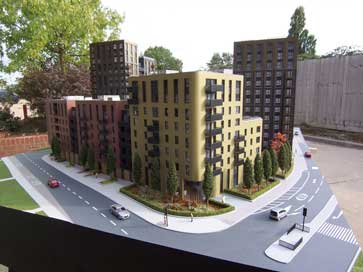 Architectural model of Wembley Northwest Village for Quintain