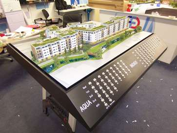 Architectural model of Waterside Reach for Redrow