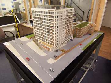 Architectural model of Northway House for Redrow