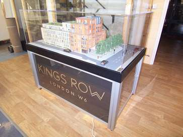 Architectural model of Kings Row, London W6 for Linden