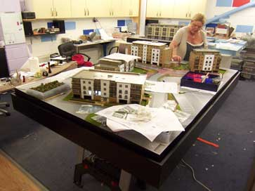 Architectural model of The Quarters for Redrow