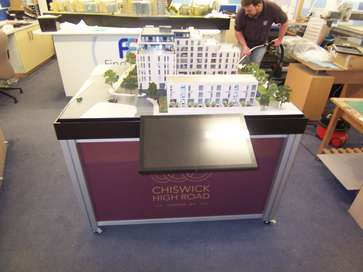 Architectural model of Chiswick High Road for Redrow