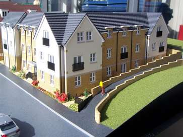 Architectural model of Regent's Court for Redrow