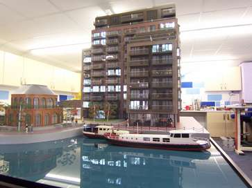 Architectural model of Dockside, Canary Wharf for Bellway