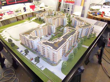 Architectural model of Caspian Quarter for Bellway
