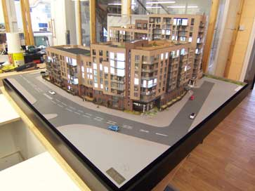 Architectural model of Lansbury Square, London E14 for Bellway