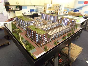 Architectural model of Colindale apartments for Redrow