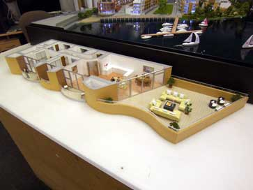 Architectural model of Lymington for Redrow