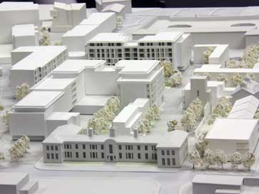 Architectural block model of Marconi site for Bellway