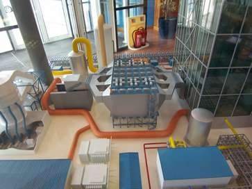Architectural model of a power station for Doosan Babcock Energy