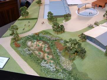 Architectural model of a stud farm
