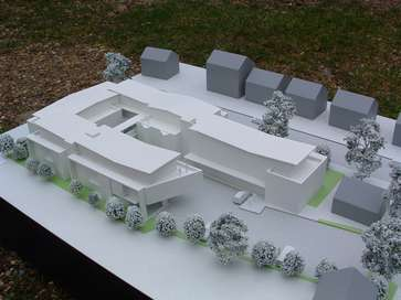 Architectural model of typical study blocks