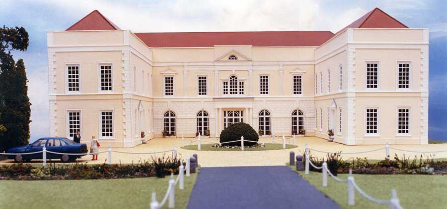 1:100 model of Hintlesham Hall Hotel