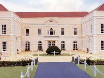 Architectural model of Hintlesham Hall Hotel