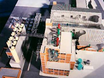 Architectural model of Paint Factory for ICI