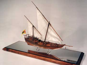 Bahrain Dhow model - a gift for the King Of Bahrain