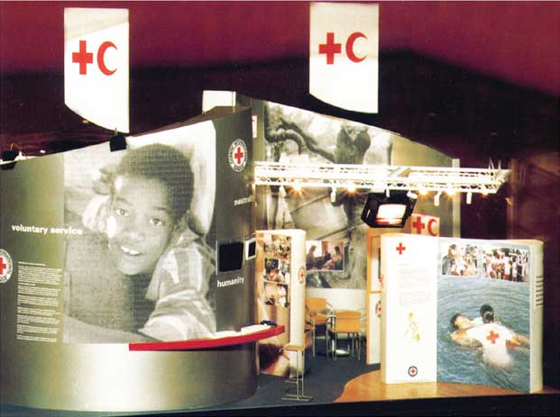 Photograph strip of an exhibition stand