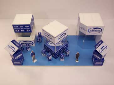 Design model for Maritime exhibition stand at Multimodal
