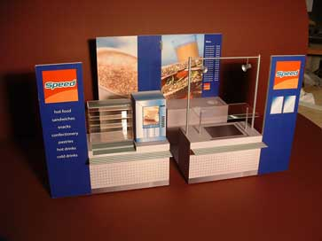 Model of a mobile canteen for a marketing display
