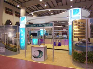 Stand for Amwaj Waves at Property Arabia exhibition in Bahrain