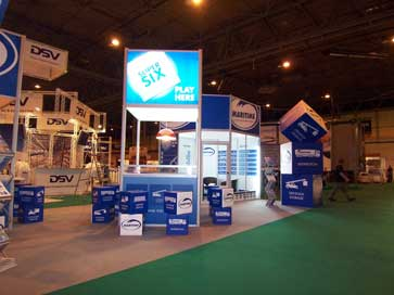 Exhibition stand for Maritime at the NEC