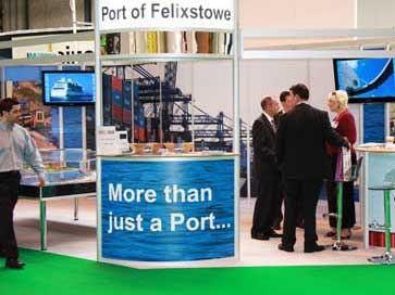 Multimodal Exhibition stand for Hutchinson Ports (UK)