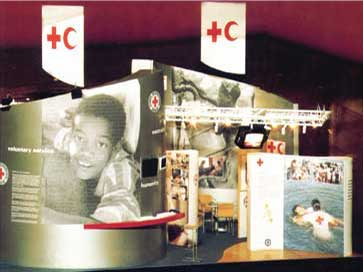 Exhibition stand for the Red Cross in France
