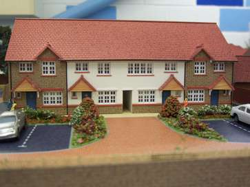 Architectural model of the King's Park project in Colchester for Redrow