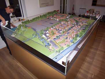 Architectural model of Phase 3 of the St. Andrews Park project for Redrow