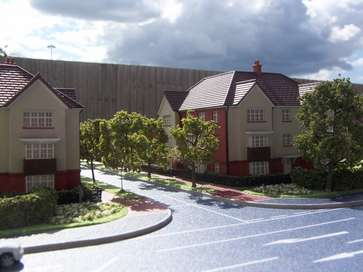Architectural model of The Coppice project in Maidstone for Redrow