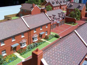Architectural model of Binfield project for Spitfire Homes