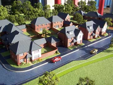 Architectural model of Woodlands Nook project for Redrow