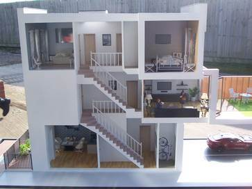 1:20 architectural model of Colindale house for Redrow