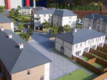Architectural model of Cloisters project for Spitfire Homes
