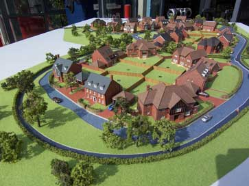 Architectural model of The Oaks project for David Wilson