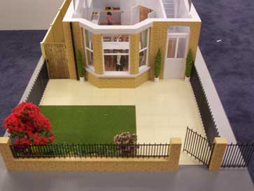 Architectural model of Langroyd Mews house type for Bellway