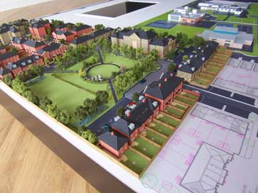 Architectural model of Ratio Slade Green project for Redrow