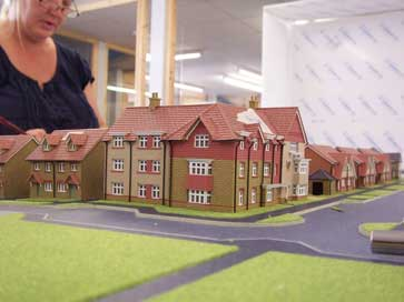 Architectural model of St. Andrews Park project for Redrow