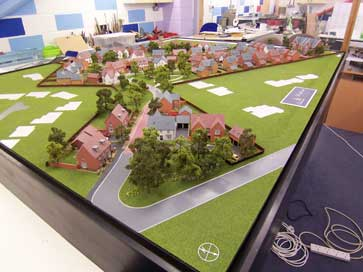Architectural model of Woodthorne project in Tettenhall for David Wilson Homes