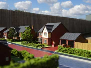 1:200 architectural model of Manor Green project for William Davis