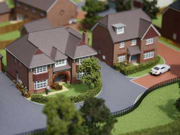 Architectural model of Sycamores project in Pease Pottage for Redrow