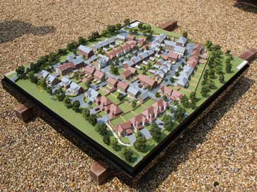 Architectural model of Kings Acre project for Redrow Homes