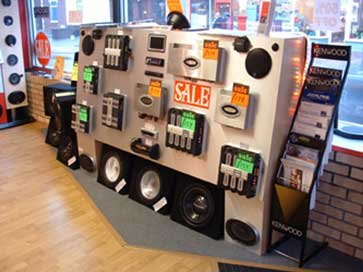 Point of Sales retail displays for an audio store