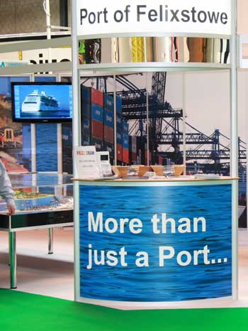 Photograph Port of Felixstowe exhibition stand