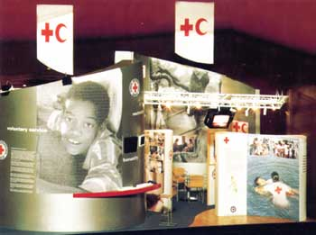 Photograph of Red Cross exhibition stand